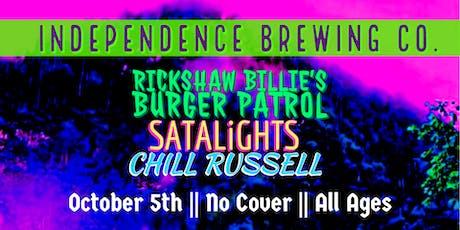 Rickshaw Billie's Burger Patrol, SATALiGHTS, and Chill Russell tickets