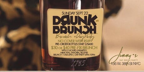 9/22 | DRUNK BRUNCH | Bottomless Brunch & Day Party | #MTAEvents tickets