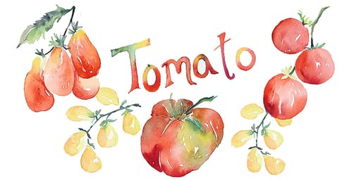 Tomato Watercolor Workshop at Lucky's Market