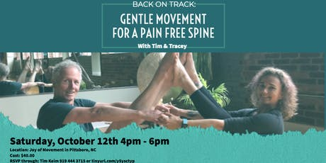 BACK ON TRACK: GENTLE MOVEMENT FOR A PAIN FREE SPINE tickets