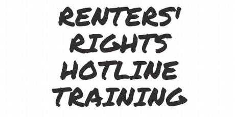 Renters' Rights Hotline Training tickets