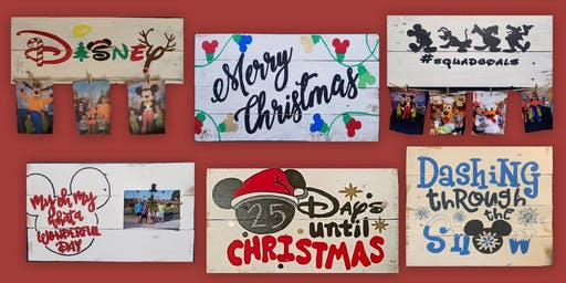 Christmas Disney Sign Painting at Springfield 11/16