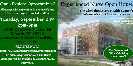 Christiana Care Nurse Open House - Women's and Children's