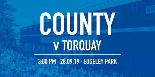 #StockportCounty vs Torquay United