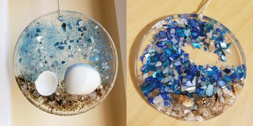 Resin Ornaments With Jessie Jewels Shell Beach & Wave