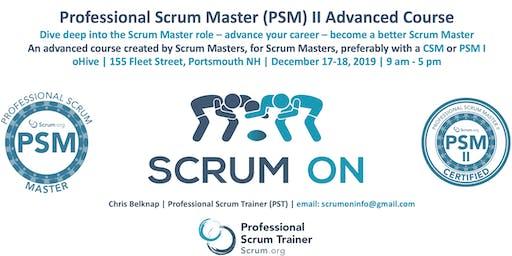 Scrum.org Professional Scrum Master (PSM) II - Portsmouth NH - Dec 17-18, 2019