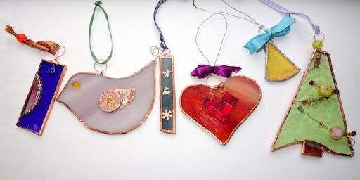 Mixed Media Glass Decorations (deposit)