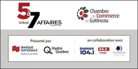 5 à 7 LD AFFAIRES & CHAMBRE DE COMMERCE DE GATINEAU tickets