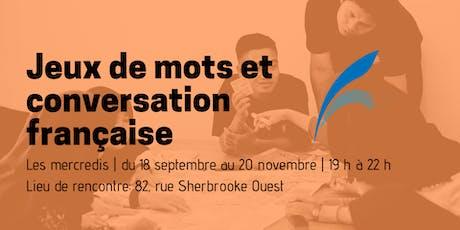 Jeux de mots et conversation française billets