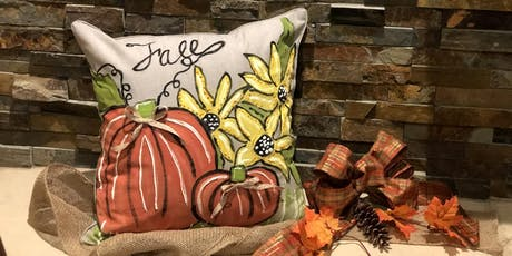 Fall Pumpkin and Sunflower Pillow Case Painting Party tickets