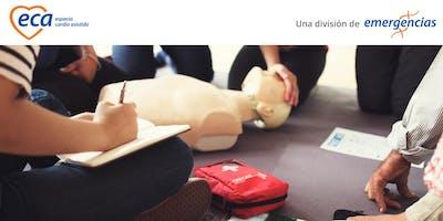 Curso de RCP + DEA en adultos, niños y lactantes