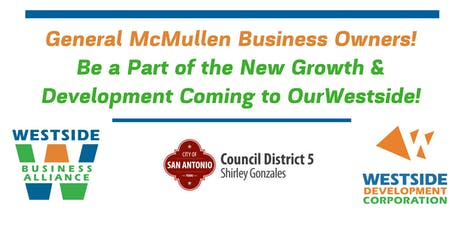 General McMullen Westside Business Alliance Meeting tickets