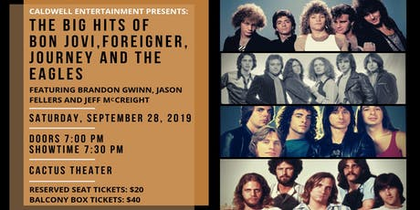 Caldwell Entertainment: Bon Jovi, Foreigner, Journey & Eagles Tribute tickets