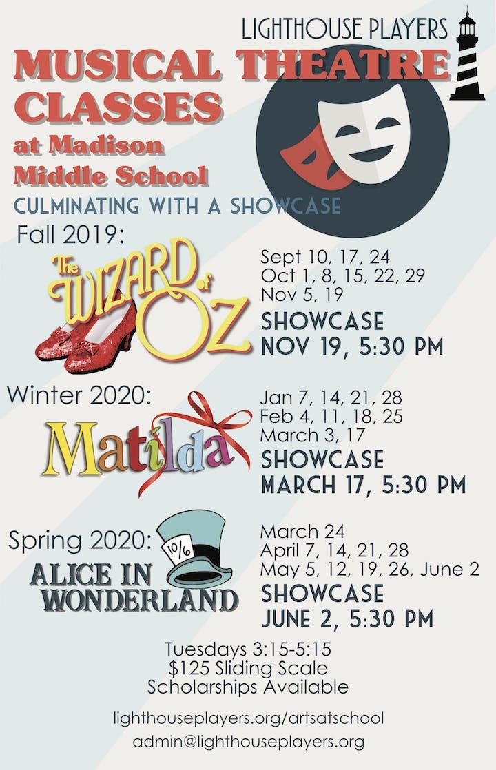 Winter 2020 Classes.Madison Middle School Winter 2020 Class Matilda