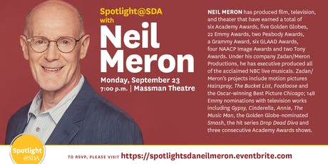 Spotlight@SDA - Neil Meron tickets