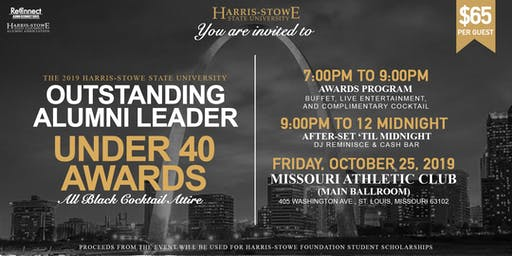 SOLD OUT! 2019 HSSU Outstanding Alumni Leader Under 40 Awards