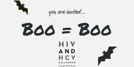 BOO = BOO, A Halloween Themed HIV and HCV Conference tickets