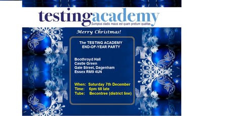 The TESTING  ACADEMY end-of-year Party 2019 tickets