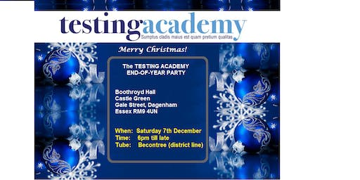 The TESTING  ACADEMY end-of-year Party 2019