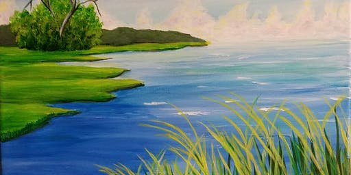 Summer Marsh painting