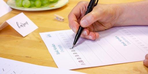 Intro into Brush Pen Calligraphy - 12th October - Newbury