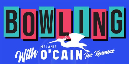 Bowling with Melanie O'Cain for Kenmore