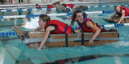 Cardboard Boat Race / Course de bateau en carton - Ele - Fergus (1)