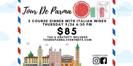 Tour De Parma: 5 course dinner with wine pairings tickets