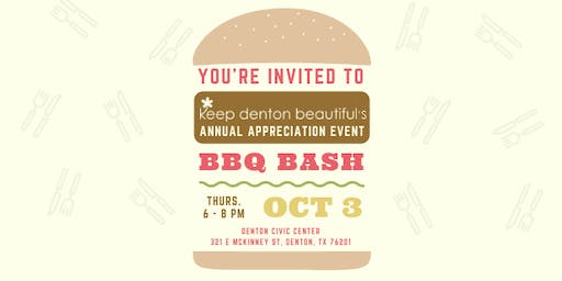 Keep Denton Beautiful's BBQ Bash 2019