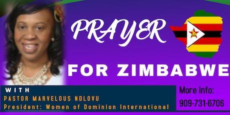 Prayer for Zimbabwe tickets