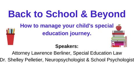 Back to School & Beyond How to Manage Your Child's Special Education Journey tickets
