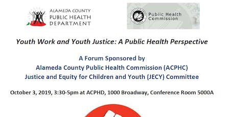 Youth Work and Youth Justice: A Public Health Perspective tickets
