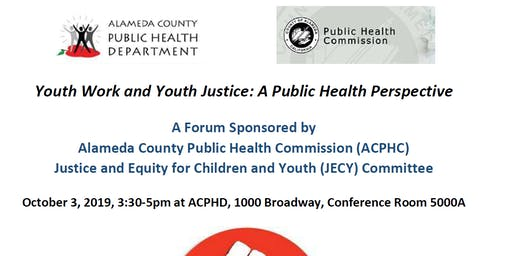 Youth Work and Youth Justice: A Public Health Perspective