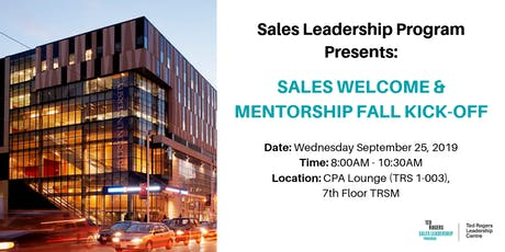 Sales Welcome & Mentorship Fall Kick-Off tickets