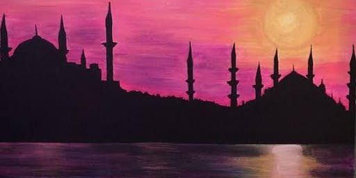 Halal Sip N Paint - Sunset over Minaret