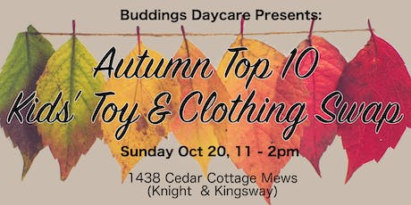 Kids' Toy & Clothing Swap at Storybook Buddings! tickets