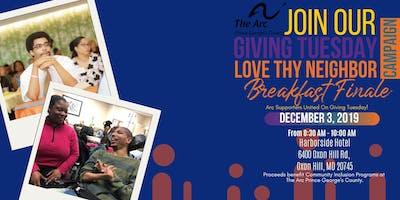 Giving Tuesday Love Thy Neighbor Breakfast Finale