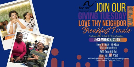 Giving Tuesday Love Thy Neighbor Breakfast Finale