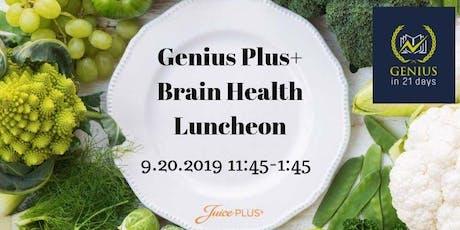Genius Plus+ Brain Health Luncheon tickets