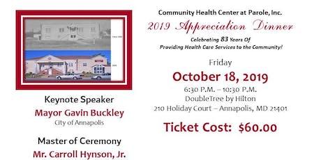 Community Health Center at Parole, Inc. 2019 Appreciation Dinner & Awards tickets
