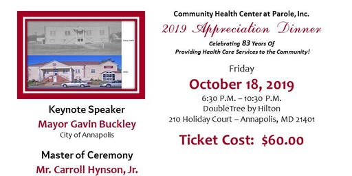 Community Health Center at Parole, Inc. 2019 Appreciation Dinner & Awards