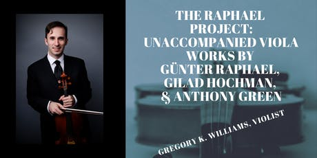 The Raphael Project: Unaccompanied Viola Sonatas tickets
