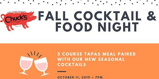Chuck's Fall Cocktail & Food Night