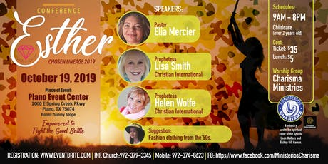 Conference : Esther Chosen Lineage 2019 tickets