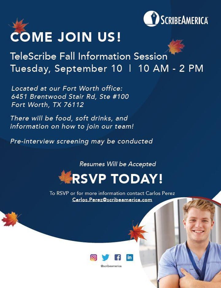 ScribeAmerica Telescribes D/FW, TX Information Session