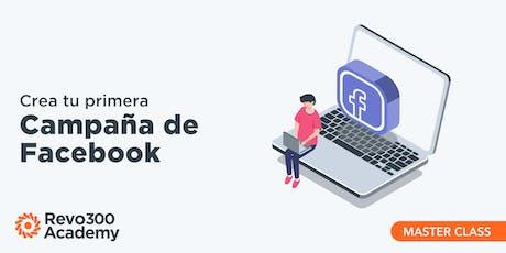 Crea tu primera campaña en Facebook  boletos