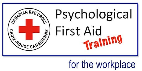 Red Cross - Psychological First Aid (One-day Workshop) tickets