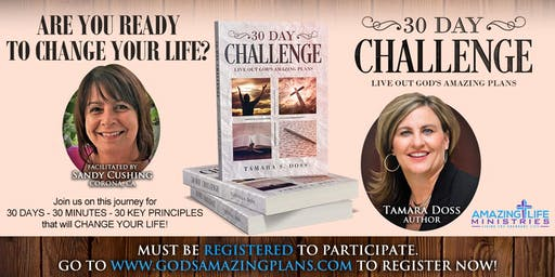 30 DAY CHALLENGE to Live Out Your Amazing Plans-OCTOBER 2019