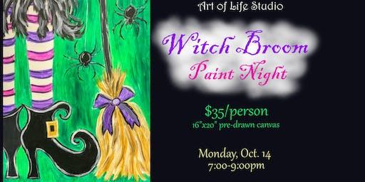 Paint Night: Witch Broom