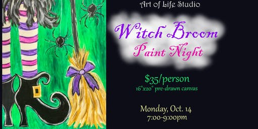 Paint Night: Witch Broom